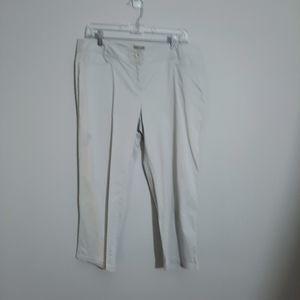 J.Jill Flat Front Pale Slate Blue Gray Capri Pants